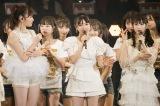 村瀬紗英(中央)の卒業コンサートを12月14日に大阪・オリックス劇場で行うことを発表=『NMB48 10th Anniversary LIVE 〜心を一つに、One for all, All for one〜』より(C)NMB48