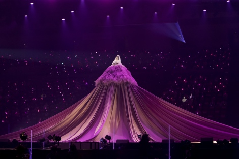 ラストは巨大ドレスで集大成のステージを締めくくったアカリン(C)NMB48