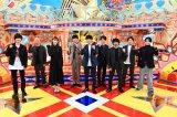 特別番組『V6の愛なんだ2020』に出演する(左から)道枝駿佑、小峠英二、飯豊まりえ、V6 (C)TBS