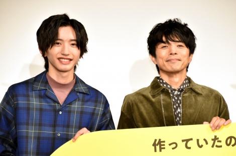 映画『461個のおべんとう』親子試写会イベントに登壇した(左から)道枝駿佑、井ノ原快彦 (C)ORICON NewS inc.