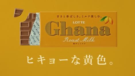 新TV-CM「ガーナブラック&ローストミルク」篇