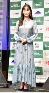映画『愛のまなざしを』の舞台あいさつに出席した中村ゆり (C)ORICON NewS inc.