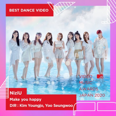 "『MTV VMAJ 2020』 ""BEST DANCE VIDEO"" 賞を受賞したNiziU"
