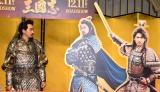 (左から)大泉洋、小栗旬、賀来賢人=映画『新解釈・三國志』完成報告会見 (C)ORICON NewS inc.
