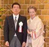 2020年度の文化功労者として政府から選出された西川きよし(左)と妻の西川ヘレン(右) (C)ORICON NewS inc.