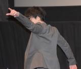 「派手に行くぜ!」とマーベラスの決めせりふを叫ぶ小澤亮太=映画『ゴーカイジャー ゴセイジャー スーパー戦隊199ヒーロー大決戦』トークショー (C)ORICON NewS inc.