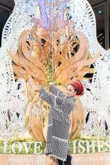 丸の内エリア『Marunouchi Bright Christmas 2020 〜LOVE & WISHES〜』クリスマスツリー点灯式に登壇したMISIA (C)Santin Aki