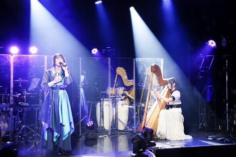 アルパ奏者の上松美香とのコラボで「愛の星 -two hearts-」 Photo by MASA