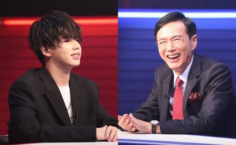 『まつもtoなかい〜マッチングな夜〜』(左から)Hiro、森進一 (C)フジテレビ