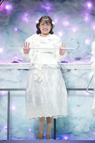 ファンタジッククリスマスミュージカル『ELF The Musical』公開ゲネプロに参加した私立恵比寿中学・柏木ひなた 撮影=岩田えり