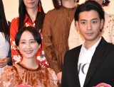 (左から)松井玲奈、三浦翔平=映画『魔女見習いをさがして』公開記念舞台あいさつ (C)ORICON NewS inc.