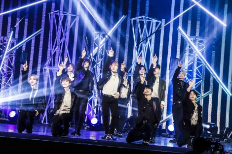 1stアルバム『The STAR』のPRイベントを開催したJO1 (C)LAPONE ENTERTAINMENT