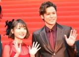 (左から)花澤香菜、宮野真守=『第32回東京国際映画祭』レッドカーペットで撮影 (C)ORICON NewS inc.