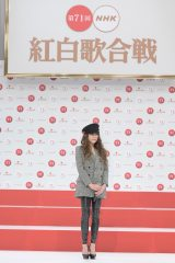 NHK『第71回紅白歌合戦』出場者会見に出席したJUJU (C)NHK