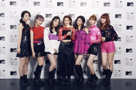 『MTV VMAJ 2020』で「Best Dance Video」を受賞したNiziU(C)田中聖太郎