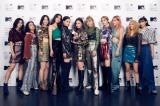 『MTV VMAJ 2020 -THE LIVE-』で「Inspiration Award Japan」を受賞したE-girls(C)田中聖太郎