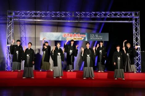 映画『滝沢歌舞伎 ZERO 2020 The Movie』完成記念イベントに登壇したSnow Man