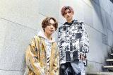 『恋する母たち』出演の蒲原繁秋役の宮世琉弥(左)と劇中歌を書き下ろしたさなり(右) (C)TBS