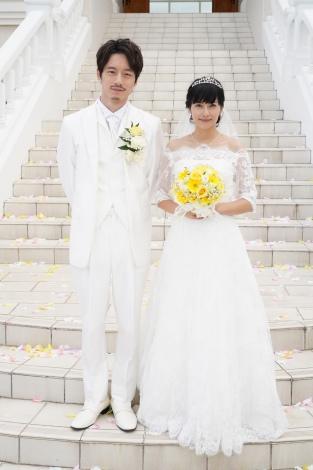 『35歳の少女』柴咲コウ&坂口健太郎の結婚式シーン(C)日本テレビ