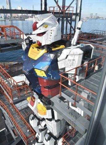 "『GUNDAM FACTORY YOKOHAMA』より1/1スケール""実物大""18メートルの動くガンダム (C)ORICON NewS inc."