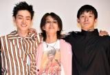 映画『タロウのバカ』完成披露上映会に出席した(左から)菅田将暉、YOSHI、仲野太賀 (C)ORICON NewS inc.
