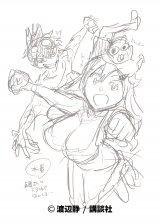 『EDENS ZERO』× 『魔女に捧げるトリック』のコラボイラスト(ラフ画)