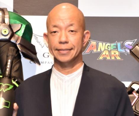 『高級シャンパン「ANGEL CHAMPAGNE」ARアプリ』誕生記念発表会に出席したバイきんぐ・小峠英二 (C)ORICON NewS inc.