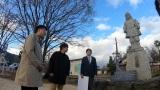明智光秀の坂本城跡を訪ねる(大津・坂本) (C)NHK