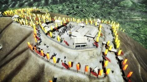 関ヶ原の巨大山城をCGで再現=NHK・BSプレミアムで12月19日放送、『決戦!関ケ原 空からスクープ 幻の巨大山城』 (C)NHK