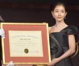 『第49回 ベストドレッサー賞』の授賞式に出席した田中みな実 (C)ORICON NewS inc.