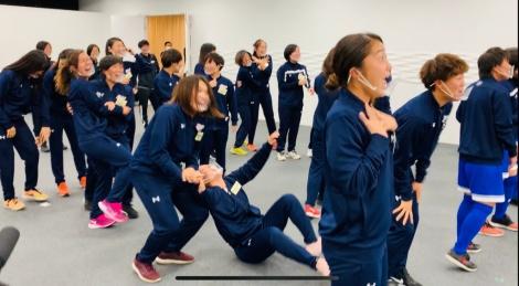 『炎の体育会TVSP』よりクリスティアーノ・ロナウド選手の登場に驚く学生たち(C)TBS