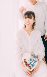 桃が第1子妊娠5ヶ月を報告(写真はオフィシャルブログより)