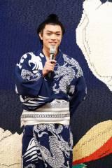 舞台『両国花錦闘士』公開ゲネプロに参加した原嘉孝 撮影:田中亜紀
