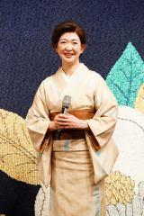 舞台『両国花錦闘士』公開ゲネプロに参加した紺野美沙子 撮影:田中亜紀