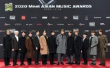 『2020 Mnet ASIAN MUSIC AWARDS』フォトウォールに登場したSEVENTEEN(C) CJ ENM Co., Ltd, All Rights Reserved.