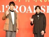 映画『ブレイブ −群青戦記−』製作報告会見に出席した(左から)鈴木伸之、新田真剣佑 (C)ORICON NewS inc.