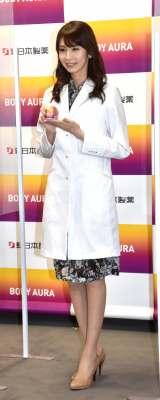 新商品のサプリメント『BODY AURA』の発表会に参加した川村優希氏 (C)ORICON NewS inc.