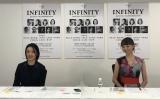 『INFINITY DANCING TRANSFORMATION』記者発表に出席した(左から)草刈民代、上野水香