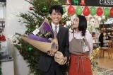 『姉ちゃんの恋人』クランクアップを迎えた(左から)藤木直人、小池栄子