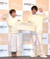 子ども服ブランド『Ange Charme』の記者発表会に出席した(左から)辻希美、杉浦太陽 (C)ORICON NewS inc.