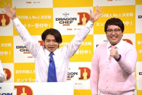 『M-1』優勝翌朝のイベントに登場したマヂカルラブリー(左から)野田クリスタル、村上 (C)ORICON NewS inc.