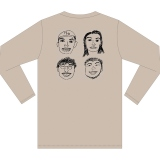 杉野遥亮が描いたイラストをあしらったロングスリーブTシャツ(税込み3850円)=番組公式グッズ12月21日からBASEにて発売
