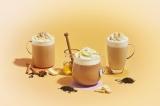 『チャイ & ホワイト チョコレート ティー ラテ』『アール グレイ ハニー ホイップ ティー ラテ』『ほうじ茶 クリーム ティー ラテ』