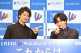 WOWOWの新CMキャラクターを務める(左から)斎藤工、中島健人 (C)ORICON NewS inc.
