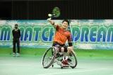 国枝慎吾選手が初参戦=2021年1月2日放送、『とんねるずのスポーツ王は俺だ!!』テニス対決(C)テレビ朝日