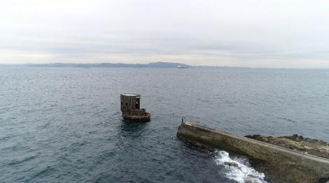 東京湾にポツンと立つ軍事機密施設