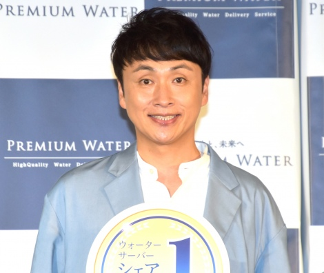 『プレミアムウォーター 新アンバサダー&新CM発表会』に参加した児嶋一哉 (C)ORICON NewS inc.