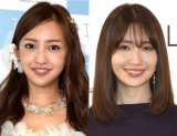 (左から)板野友美、小嶋陽菜 (C)ORICON NewS inc.