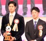 初対面を果たした(左から)大谷翔平、吉田輝星 (C)ORICON NewS inc.