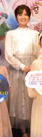 劇場版『美少女戦士セーラームーン Eternal』公開直前プレミアイベントに登場した金元寿子 (C)ORICON NewS inc.